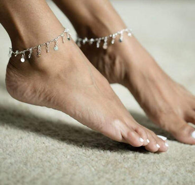 Anklets Silver Plate Charms Anklet Sterling Chain Charm (AS 37)