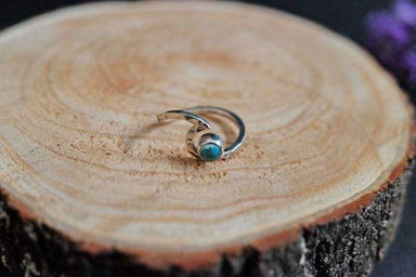Rings Silver Wave Ring with Turquoise Indonesia Women