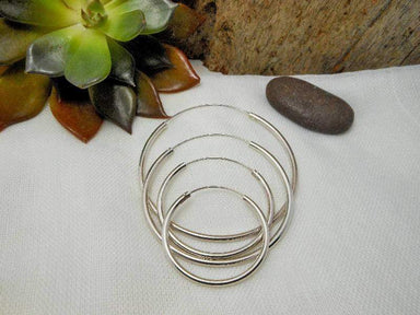 Earrings Simple Size 30,35,45 mm Sterling Silver Tribal Close Hoop Earrings,Circle Earring,Close Earring,Tribal Earrings,Personalized Gifts