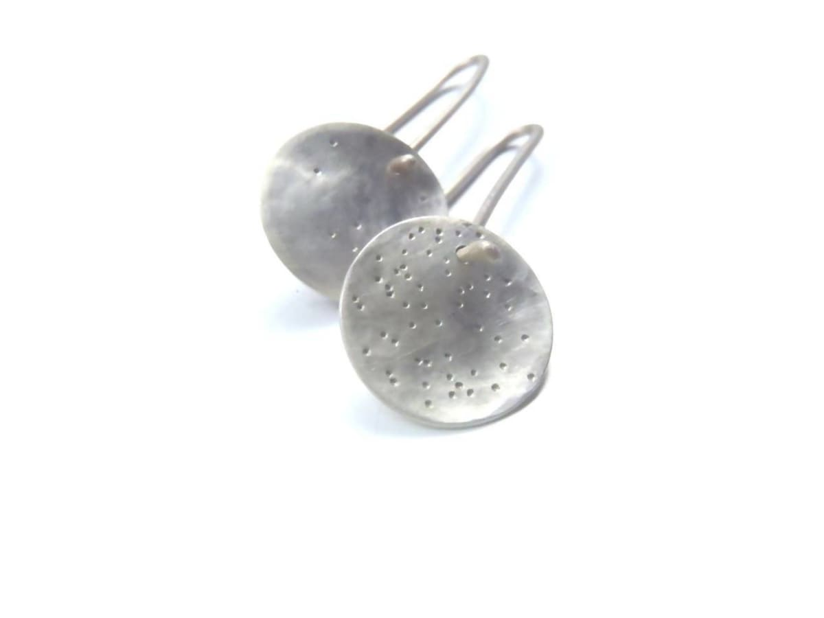 Earrings Small lovely asymmetrical constellation earrings dangle minimal hooked in brushed sterling - by dikua