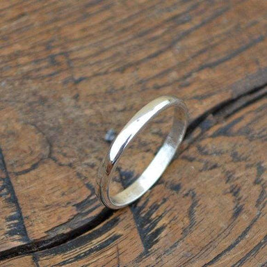 Rings Smooth Silver Band Ring Wedding Handmade Gift 925 Sterling