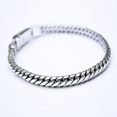Bracelets Snake Silver Chain Bracelet Handmade Jewelry Gift for men - by Craftnez