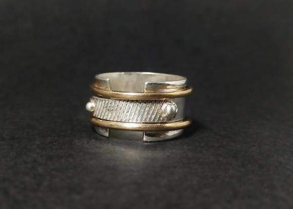 Rings Spinner Ring Band Antique Silver Sterling Wedding Bands Statement Gift