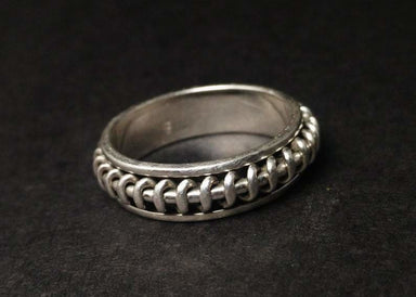 Spinner Ring Sterling Silver Handmade Thumb Spiral Jewelry - by Heaven