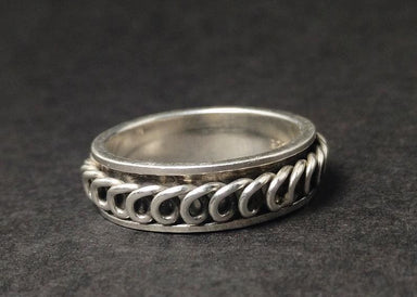 rings Spinner Ring for Woman 925 Sterling Silver Band Spiral Handmade Unique Jewelry For Her - by Heaven