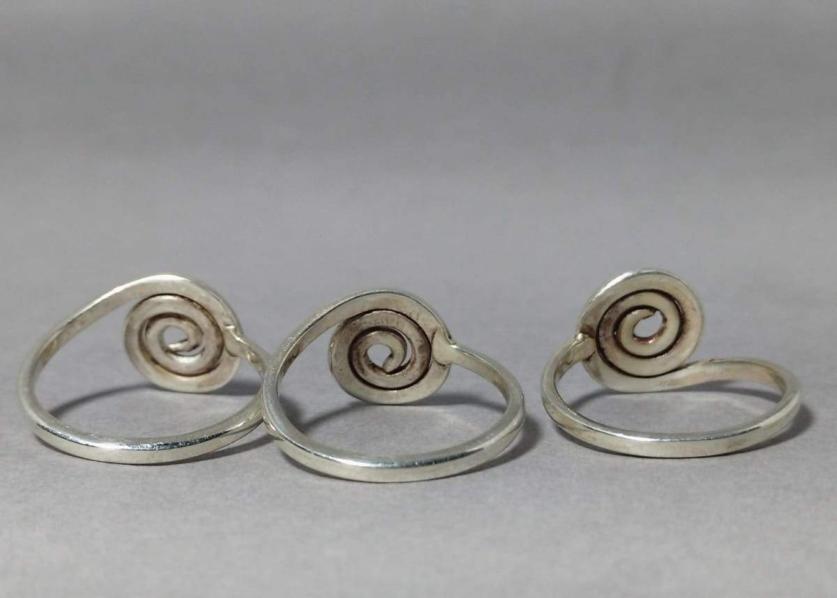 Rings Spiral Ring Silver Everyday For Woman Unique Boho Handmade Gift