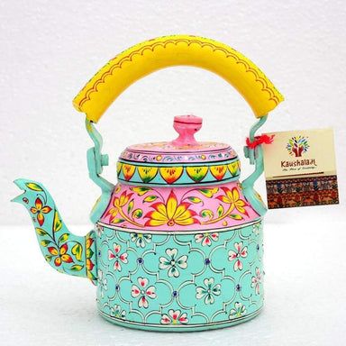Painted Teapots Spring Delight Hand Tea Pot in Aluminium