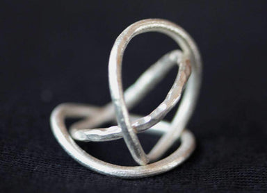 Rings Stackable bent in silver