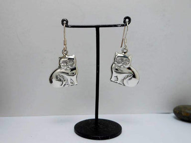 Earrings Sterling Silver Cat Dangle Earring lovers Gifts For Her