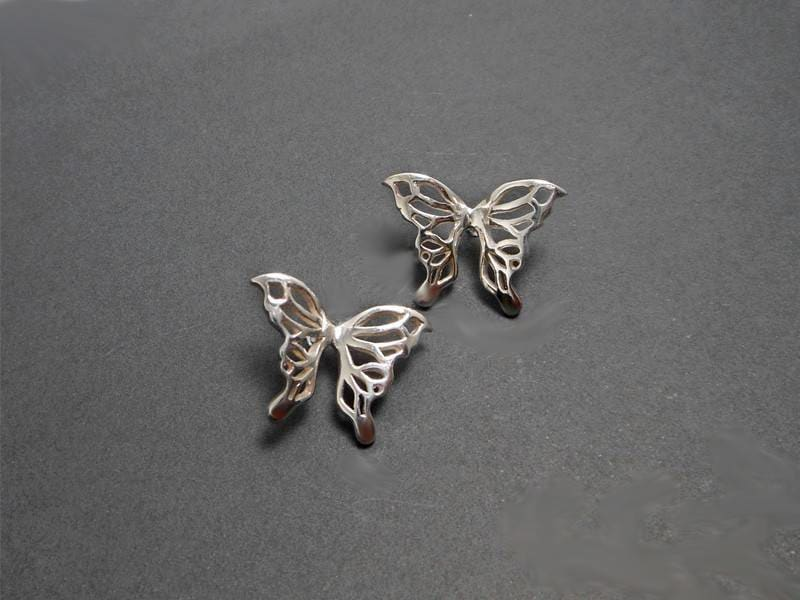 Earrings Sterling Silver Cutout Butterfly Stud Jewelry For Her - by Sup