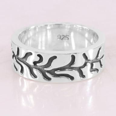 Sterling Silver Oxidized Thumb Band Ring 925 Anxiety Meditation Yoga