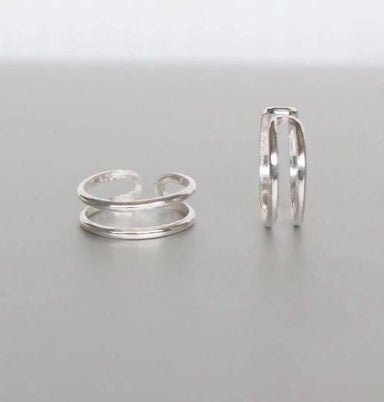 Rings Sterling Silver Toe Ring Bands Simple Stocking Stuffers Minimalist Bohemian (TS90)