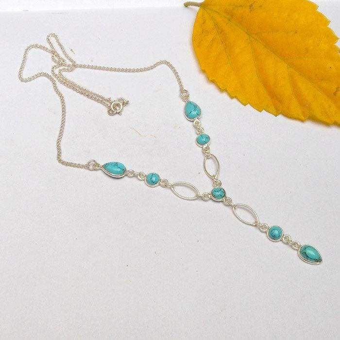 Necklaces Sterling Silver Turquoise Necklace with 16inch chain Jewelry birthday gifts