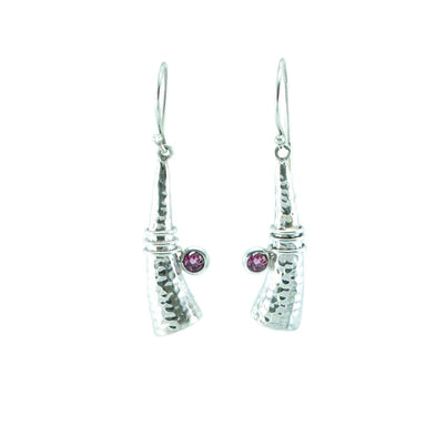 Talisman Earrings with Pink Tourmalines