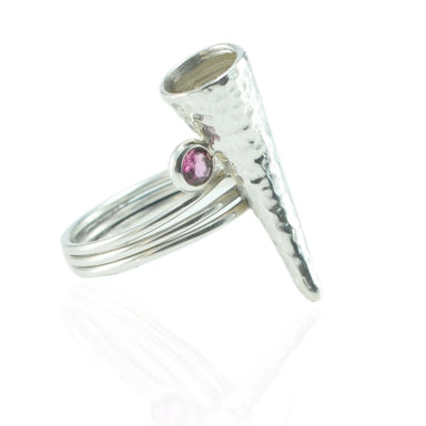 Talisman Ring with Pink Tourmalines