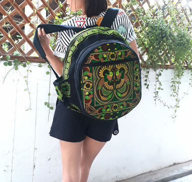 Thai Ethnic Bohemian Embroidered Backpack - by lannathaicreations