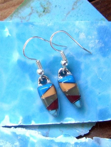 Tiny Tribal Colors Stone Mosaic Earrings - by Artesanas Campesinas