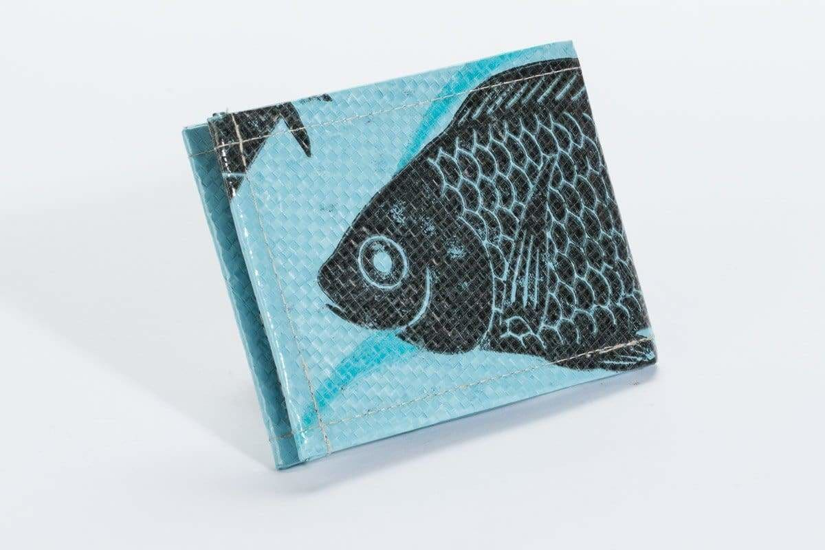 Wallets Trad Bi-Fold Wallet - Sky Blue Fish by TORRAIN