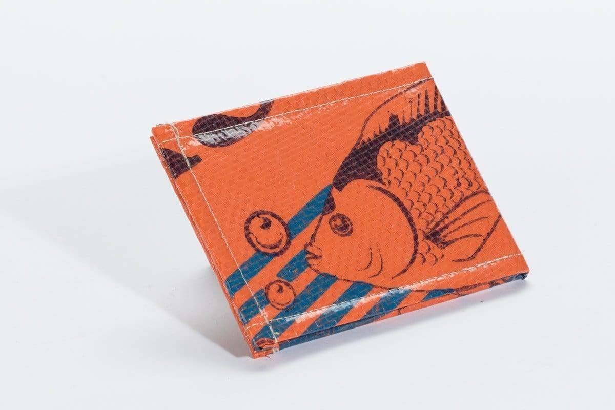 Wallets Trad Bi-Fold Wallet - Tangerine Fish by TORRAIN