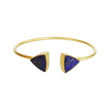 Triangle Shape Lapis Lazuli September Birthstone Fashion Bangle - by Bhagat Jewels