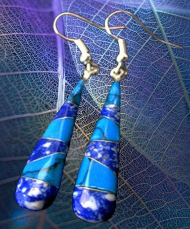 Two Turquoise Mosaic Earrings - by Artesanas Campesinas