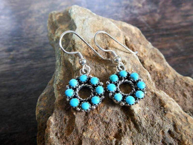 Earrings Unique Blue Silver Daisy Drop With Turquoise,Daisy Earrings,Turquoise Earrings,Pierced Earrings,Personalized Gifts,Gifts For Her