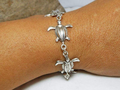 Bracelets Unique Sterling Silver Leatherback Turtle Link Bracelet,Turtle Chain,Turtle Bracelet,Personalized Gifts,Gifts For Her