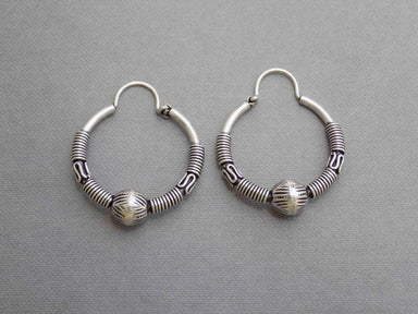 Earrings UniqueSilverZone Ball Bearing Sterling Silver