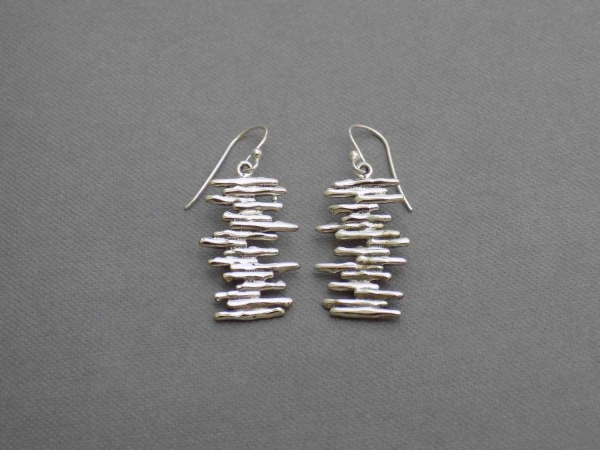 Earrings UniqueSilverZone Funky Sterling Silver Genuine Gemstone Jewelry