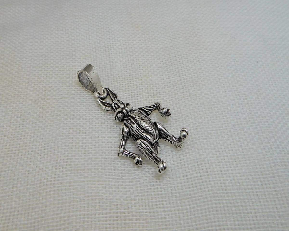Necklaces Unisex 3D Handmade 925 Sterling Silver Moving Rabbit Pendant