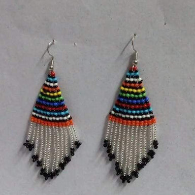 Earrings Beautiful Handmade Maasai Beaded Dangle - by Naruki Crafts