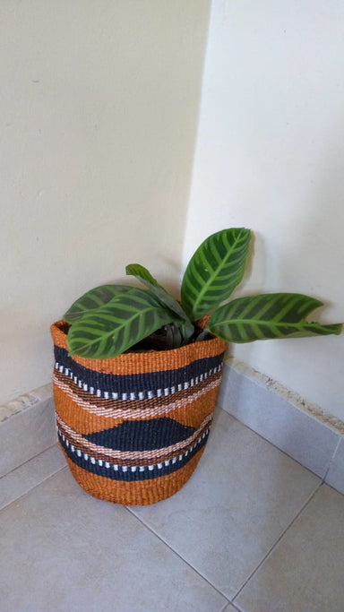 Baskets Woven Sisal planter plant holder Succulent sisal African basket Toy storage bas - Title by Naruki Crafts