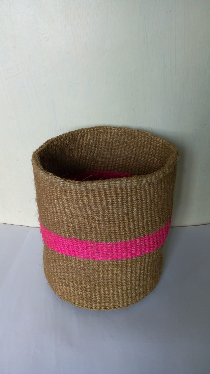 Baskets Woven Sisal planter plant holder Succulent sisal African basket Toy storage baskets - Title by Naruki Crafts