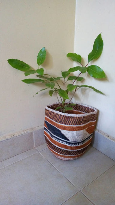Baskets Woven Sisal planter plant holder Succulent sisal African basket Toy storage - Title by Naruki Crafts