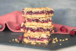 Keto Berry Crumble Bars