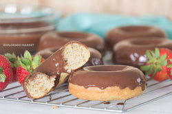 Keto Chocolate Glazed Donuts