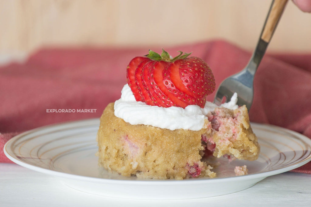 Keto Strawberry Mug Cake