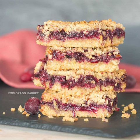 Keto Berry Crumble Bar
