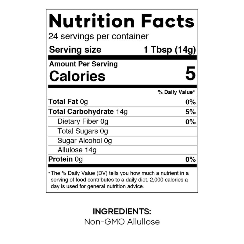 Non GMO Allulose Nutrition Facts