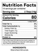 Almond Flour Explorado Market Nutrition Facts