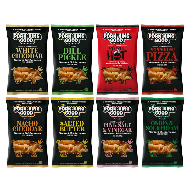 Chicharrones Pork Rinds (9 Flavors - 1.75oz) - Pork King Good