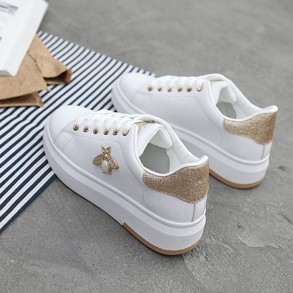 Women Casual Leather Sneakers - The Emporio Originals