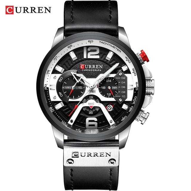CURREN Military Leather Wrist Watch
