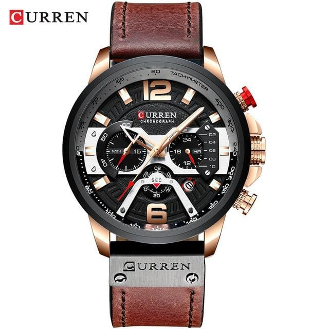 CURREN Military Leather Wrist Watch - The Emporio Originals