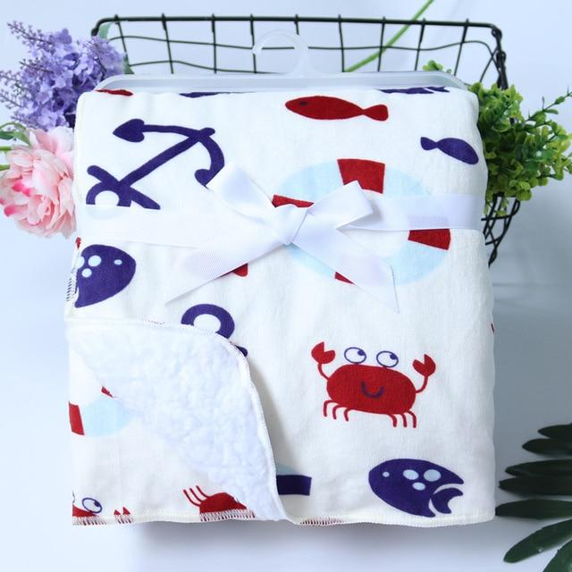 Double Layer Coral Fleece Infant Swaddle