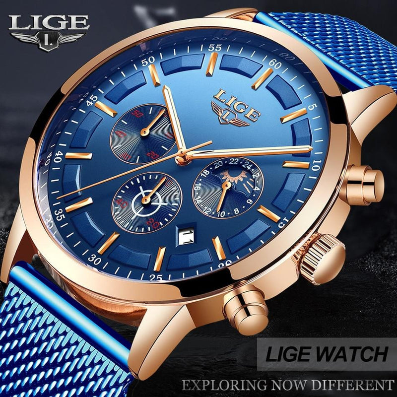 Relogio Masculino LIGE Luxury Watch - The Emporio Originals