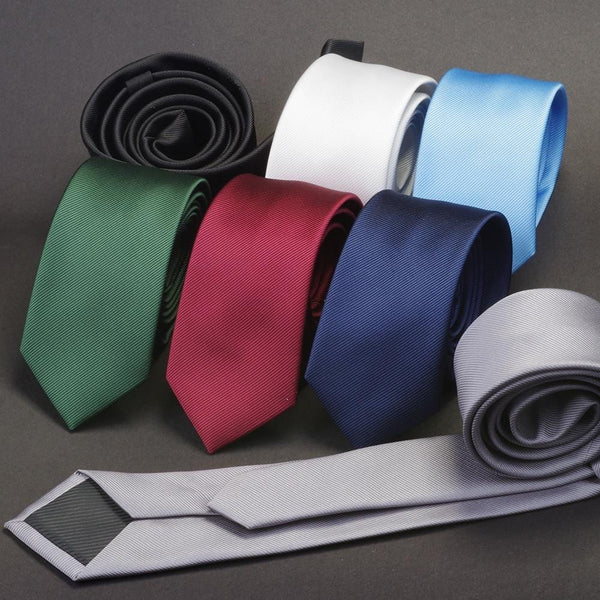GUSLESON Men Solid Color Classic Ties