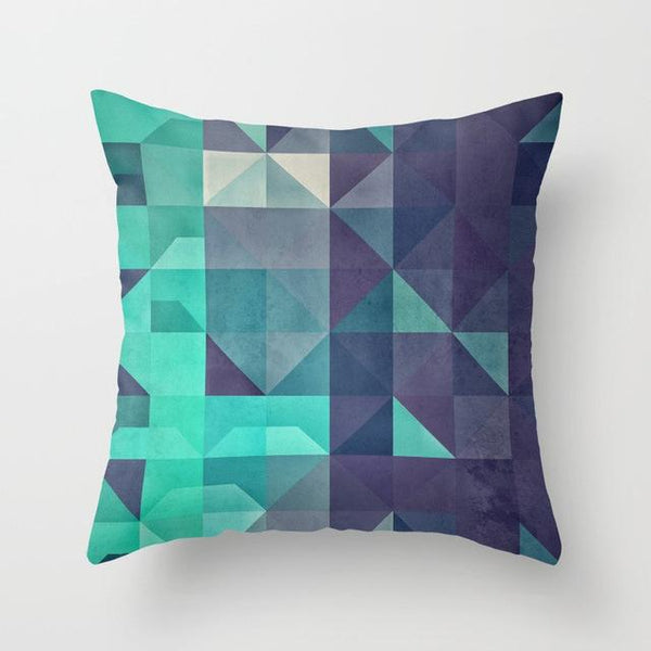 Green & Navy Cushion Cover