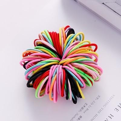 100PCS/Lot Candy Colors Rubber Bands