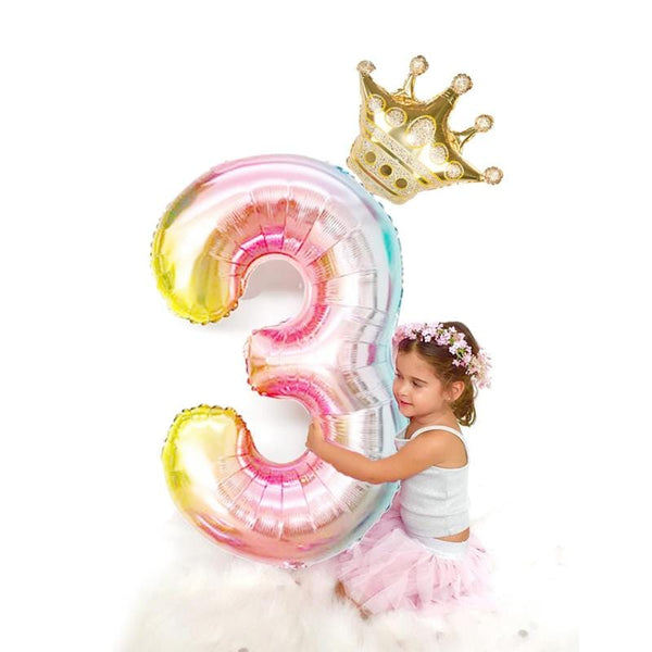 32 inch Number Foil Balloons - The Emporio Originals